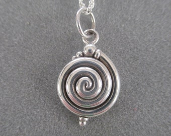 Sterling Silver Spiral Pendant #PDT07SS