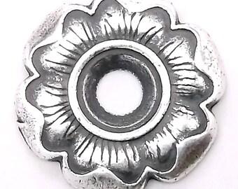 """Flower Bezel Concho in Antique Silver 3/4"""" 7785-04"""