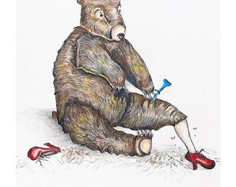 Shaving Bear