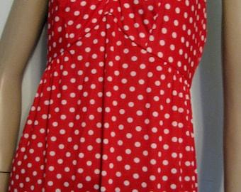 1970s Dress Halter Red Polka Dot 1970s Bolero Jacket Maxi Dress Kelly Arden Set