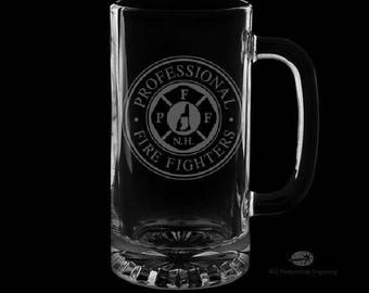 Pompiers professionnels de New Hampshire chope de bière 16 onces