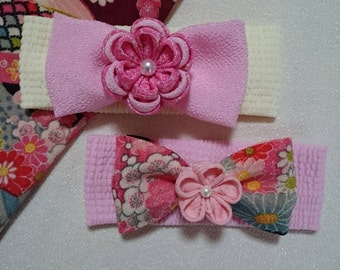 "Handmade Japanese Traditional ""Tsumamizaiku"" Baby Hair Band"
