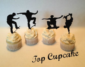 Skateboarding Cupcake Toppers -12