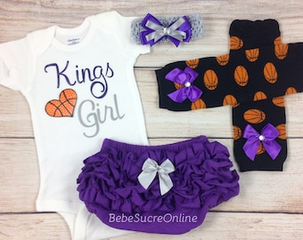 Kings Girl, Baby Basketball Outfit, Cheerleader Game Day Outfit