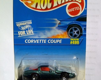 Hot Wheels #499 Corvette Coupe new on card