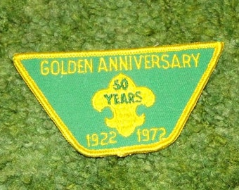 1972 Boy Scout 50th Anniversary Patch