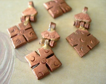 Ethopian HInged COPPER CROSS 25mm 1 inch lot of 1 Petite Coptic African Pendant Charm (see Item Details)