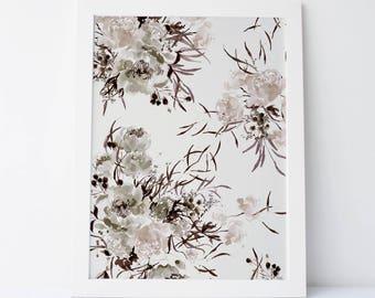 Shade Blossom in Linen - Fine Art Print