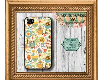 Happy Owl iPhone Case, Fall iPhone Case, Autumn Pattern iPhone Case, iPhone 5, 5s, 5c, iPhone 6, 6s, 6 Plus, SE, iPhone 7, 7 Plus