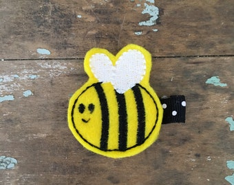 Bee bumble bee hair clip