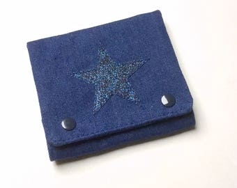Jeans women's wallet and gingham fabric