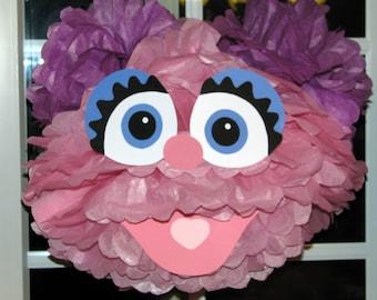 "Pink Monster tissue paper pompom kit, inspired by ""Abby Cadabby"" from Sesame Street"