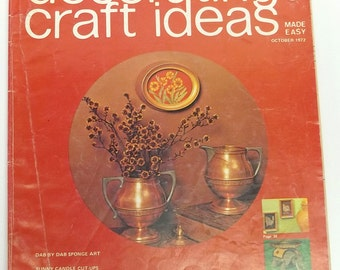 vintage crafting magazine,Decorating/Craft Ideas Made Easy magazine,October 1972,crafting/decorating magazine,October 1972,crafting magazine