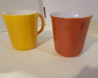 Vintage Corning Mug pair