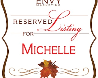 Fall Wedding Invitation Digital Calligraphy, Invitation Guest Address Printing, Falling in Love Wedding Invitation, Reserved for Michelle