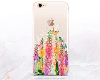 iPhone 8 Case Spring Floral iPhone X Case iPhone 7 Case Clear GRIP Rubber Case iPhone 7 Plus Clear Case iPhone SE Case Samsung S8 Case B6