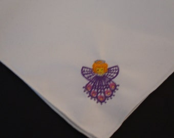 Napkins embroidered with angels