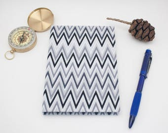 Chevron Journal Fabric Covered Book Hardcover A6 Notebook