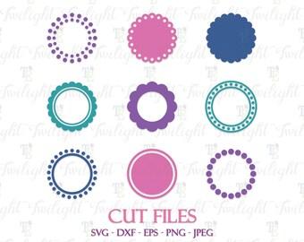 Circle Monogram Frames SVG, Circle Frames Cut Files, Circle Frames DXF Cut Files, Circle Frames, SET 1 0066