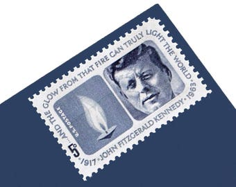 Pack of 25 Unused John F. Kennedy Stamps - 5c - Unused Vintage Postage from 1964- Quantity of 25