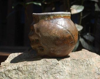 Yunomi, Sake Cup, Four-day Anagama wood firing, with natural ash deposits
