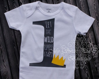 Wild One First Birthday Outfit- Wild One- 1st Birthday Outfit- Wild One Birthday- 1st Birthday- One- Where the Wild Things Are- Cake Smash