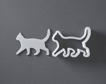 Walking cat cookie cutter, kitten cookies