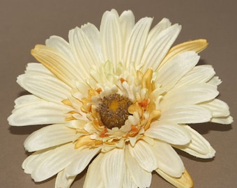 Textured Banana Cream Gerbera Daisy - Artificial Flowers, Silk Flowers - PRE-ORDER