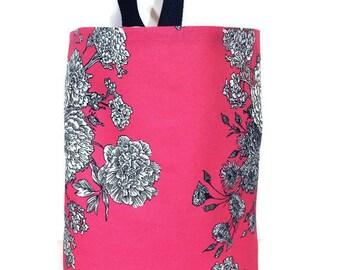 Car Trash Bag//Floral Pink//Car Waste Bag//Waterproof Trash Bag//Litter Bag for Car//Hanging Trash Bag//Car Waterproof Waste Bag