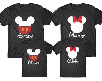 Daddy mommy and kids, Dad mom baby set, Family Disney shirts, Matching family shirts, Christmas family set, Disney vacation tshirts