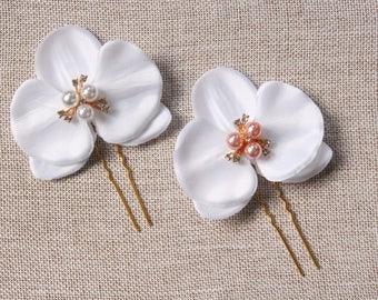 Orchidée mariage épingles à cheveux cheveux Accessoires cheveux de mariée  pièce fleur cheveux clips demoiselle demoiselle