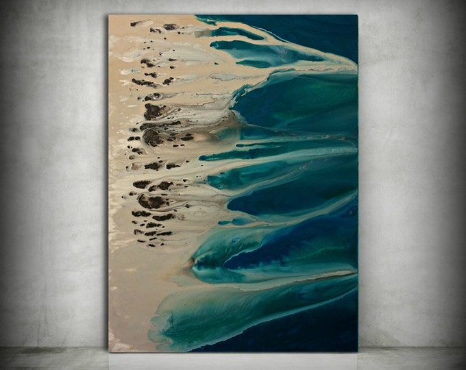 Art Painting, ORIGINAL Painting, Acrylic Painting Abstract Painting, Coastal Painting, Extra Large Wall Art, Coastal Home Decor 36 x 48