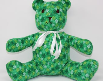 Green Snowflake Bear