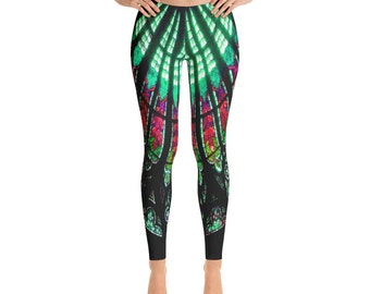 Colorful Stained Glass Art Leggings