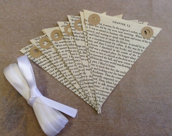 Jane Eyre Bunting - Charlotte Bronte - Book Bunting - Wedding Decor