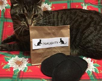 Organic Catnip Coal Cat Toy - Christmas Cat Toy