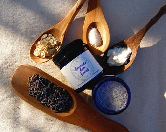 Lavender Face Scrub - a gentle organic facial cleanser and exfoliant rich in alpha-hydroxy acids (1.7 oz glass jar)