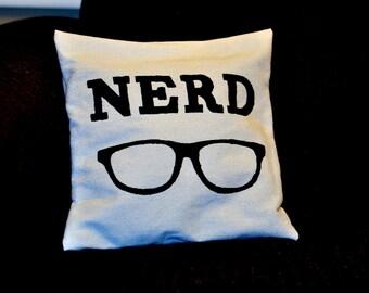 Sturdy Cotton Nerd Pillow Cover