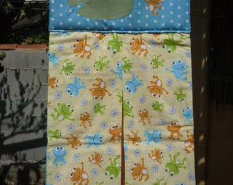 very practical and colorful frogs diaper bag to save space in your baby's room