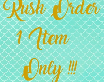 RUSH ORDER FOR 1 item or a couples set.