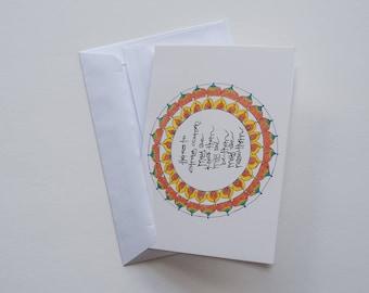 Here's to strong women meditation mandala greeting card