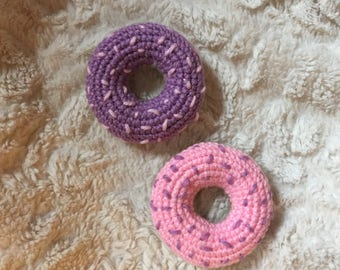 Crocheted Donut with frosting and sprinkles [Made to Order]