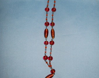 Murano glass necklace ! Vintage necklace ! Venetian glass ! Made in Italy