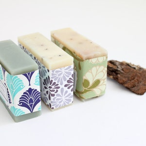 3 bars Natural Essential Oil Bar Soap.  Bath and Beauty Soaps Bar Soaps spa and relaxation gift ideas for her bathroom decor