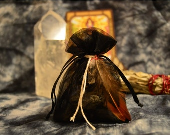 Apothecary Pouches - Good Energy, Protection, Prosperity; Healing Herbs, Crystals, Magick, Sacred Geometry