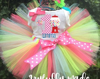 Candyland Tutu Set - Candy Birthday Outfit - Candy Tutu