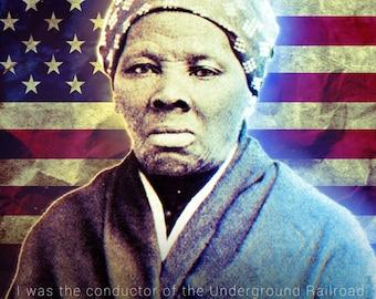 Harriet Tubman Poster Underground Railroad Black History Quote