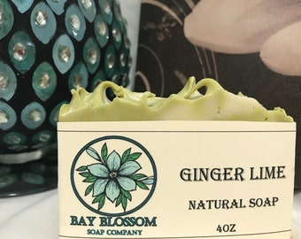Ginger Lime Natural Bar Soap