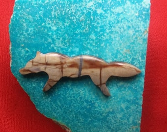 Large Gray Picasso Marble Wolf Cabochon/ backed
