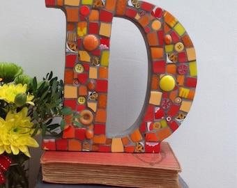 Large Mosaic Letter D